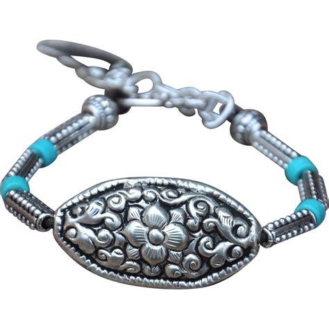 Pendant Bracelet nepalese repousse pendant bracelet from marciasouthwick on