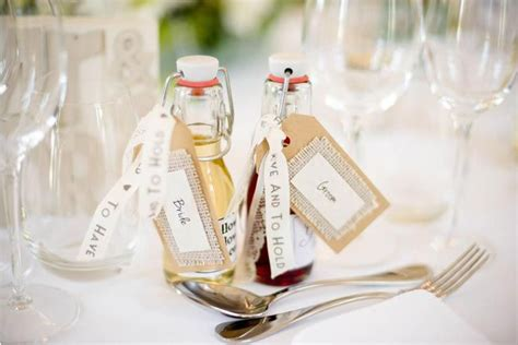 personalized mini glass favor bottle with swing l our