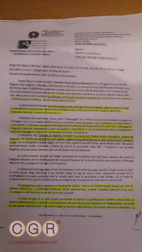 la relazione della sopraintendenza contraria al progetto