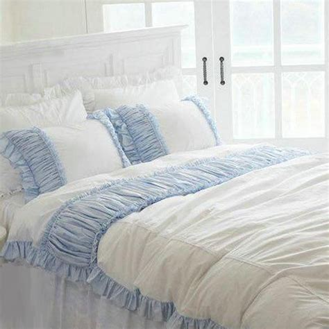 blue ruffle bedding ruffle bedding