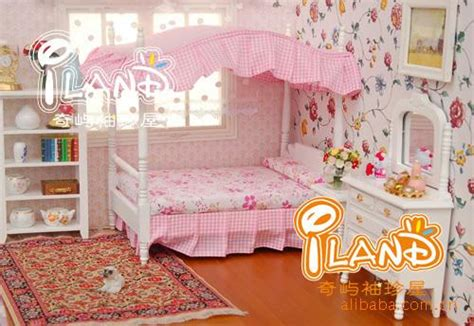 18in doll house princess bedroom furniture sets poplular princess style bedroom furniture kids bed