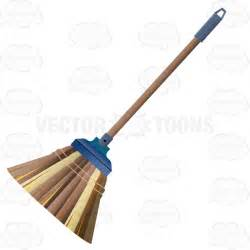 cleaning emoji brown broom with straw or wicker bristles stock cartoon