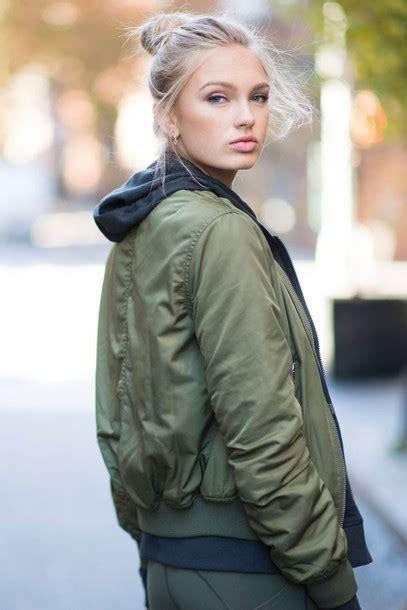 Jaket Bomber Hoodie Rocafella Green Army jacket army green jacket khaki bomber jacket