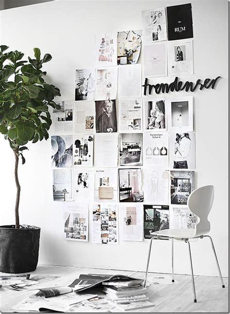 pareti con cornici 10 modi per decorare le pareti con foto senza cornici