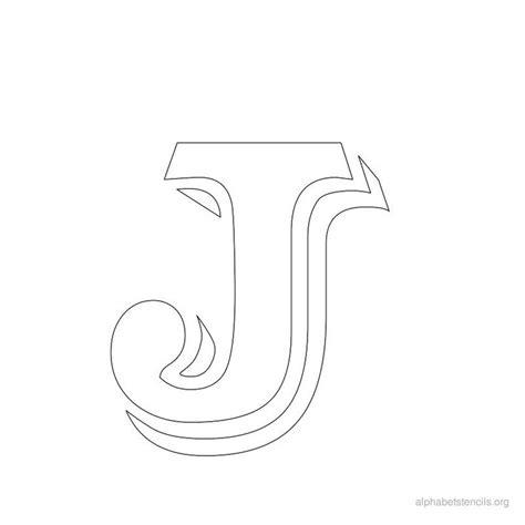 printable letter stencils for wood print free alphabet stencils vintage j holidays