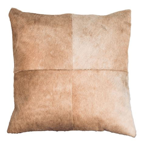 Lite Pillows by Light Brown Cowhide Pillow
