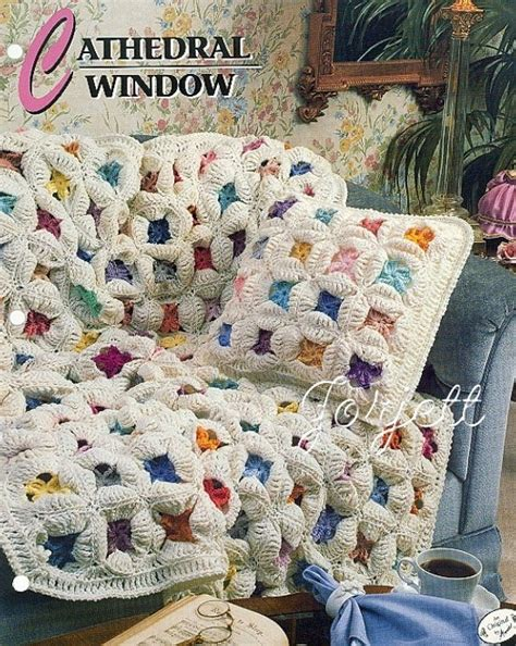 quilt pattern crochet afghan cathedral window quilt afghan annie s crochet pattern ebay
