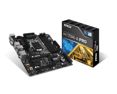 Vga Ddr4 h170 chipset motherboards 15