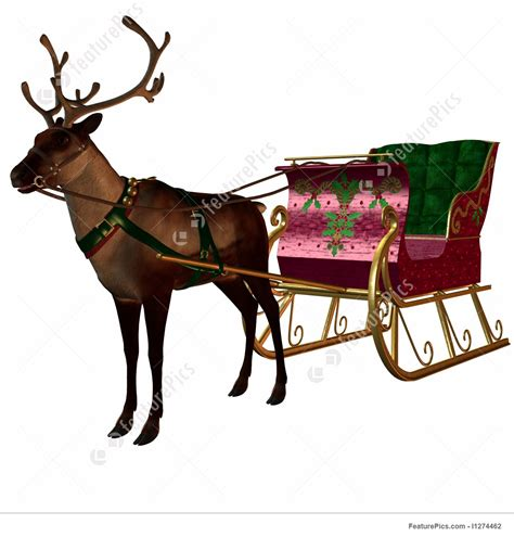 where to buy a sled and reindeer for the roof of your house reindeer and sleigh illustration