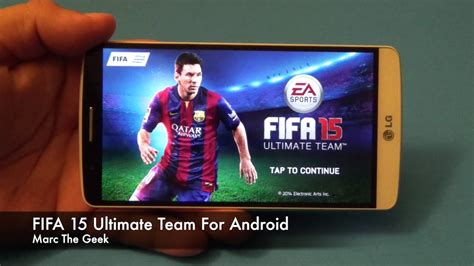 tutorial fifa 15 ut android fifa 15 ultimate team for android youtube