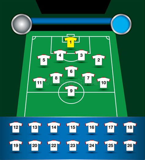 Soccer Team Plan Vector Stock Vector Illustration Of Element 31222598 Free Soccer Team Photo Templates