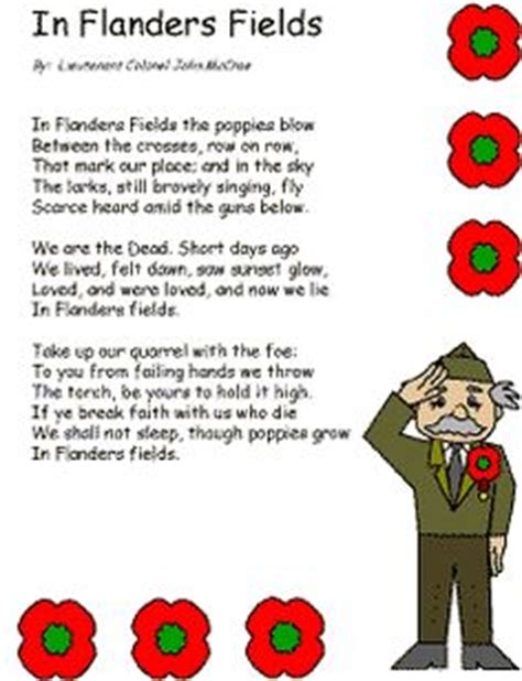 printable version of flanders fields veteran s day or remembrance day crafts and activities on