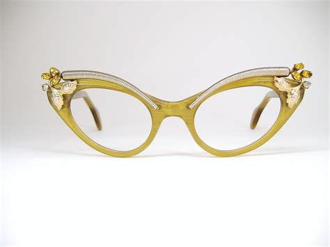 vintage cat eye glasses with rhinestones global business