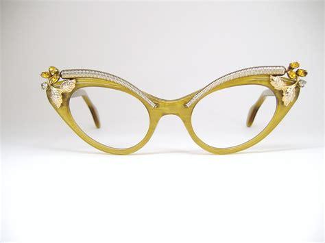 vintage cat eye glasses vintage cat eye glasses with rhinestones global business