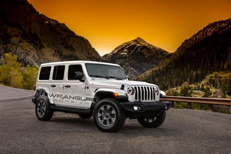 jeep white inside 2018 jeep wrangler rendered with newly leaked color