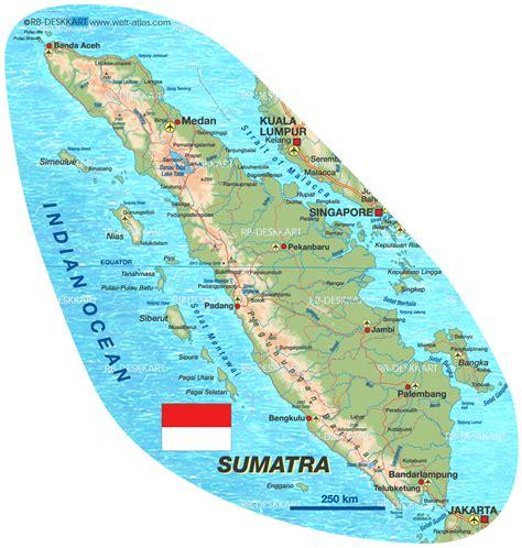 Kasur Palembang Di Banda Aceh karte sumatra insel in indonesien welt atlas de
