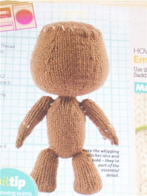 how to knit a sackboy big planet s sackboy knitting pattern authorized