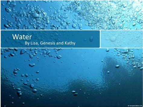 powerpoint template water water presentation ppt