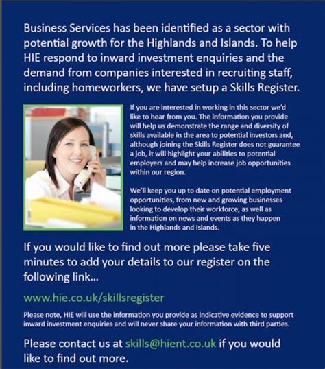 register your skills caithness business index