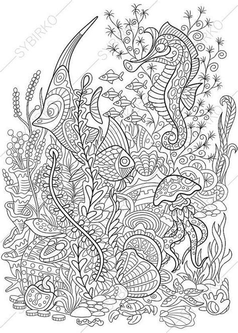 coloring pages for adults underwater 1 coloring page of underwater world from