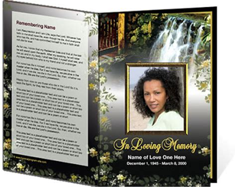 Obituary Phlet Template by Free Funeral Program Template 2010 28 Images 79 Best
