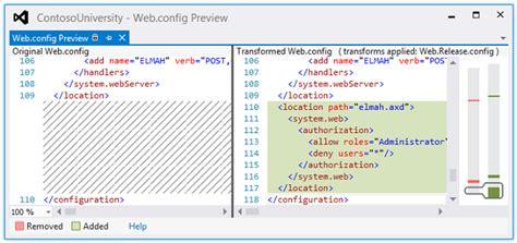 Tutorial Web Config | asp net web deployment using visual studio web config