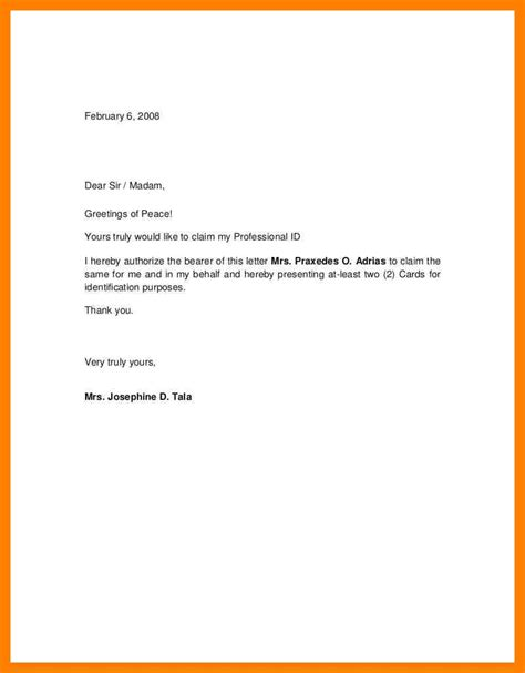 Sle Letter Official Letter authorization letter writing sle 28 images 9