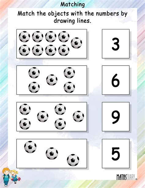 matching for and match the objects with numbers mathsdiary