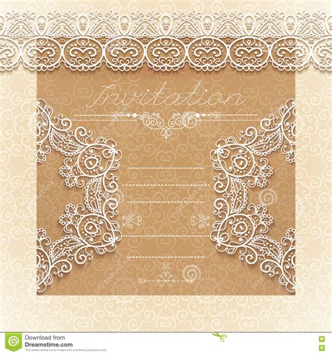 Wedding Border Vintage by Vintage Wedding Card Or Invitation With Abstract Lace