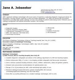 sample resume for radiographer resume downloads
