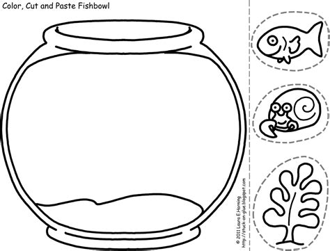 fish bowl cutout template like and apple pie 50 100th day of school project ideas