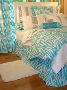 Tween teen bedding turquoise zebra glamour bedding collection