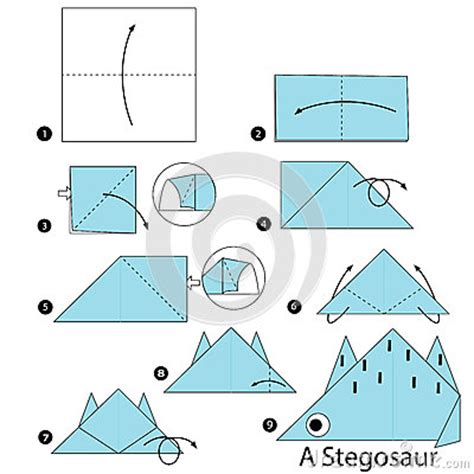 how to make an origami dinosaur step by step pics for gt origami dinosaur step by step
