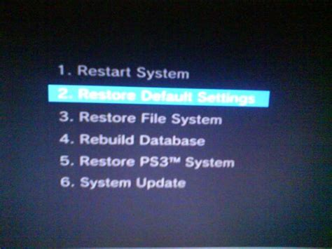 reset ps3 video settings black screen ps3 fat help
