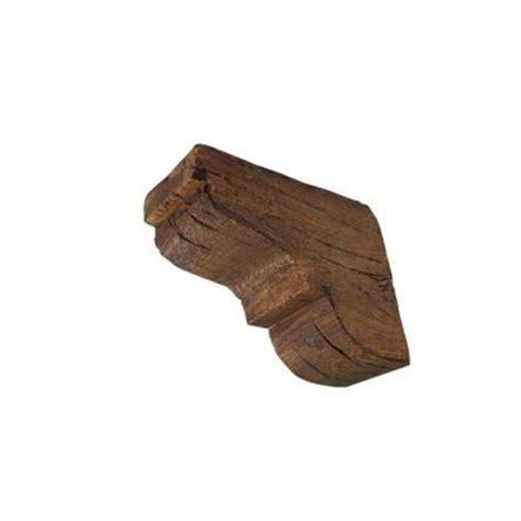 Rustic Wood Brackets 10 5 8 In X 10 5 8 In X 4 3 4 Prefinished Polyurethane