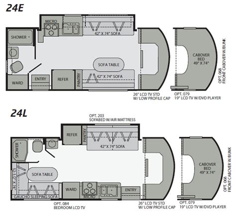 Class C Motorhome Floor Plans by 2010 Fleetwood Quest Class C Motorhome Floorplans Large