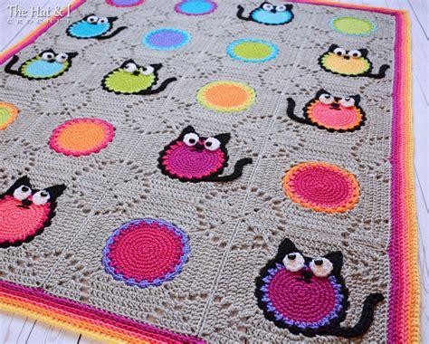 Cat Blanket Pattern | crochet pattern cat lover blanket a colorful cat afghan