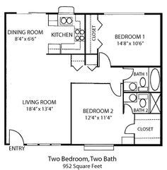 guest house floor plans 2 bedroom guest house plans on pinterest house plans floor plans and guest houses