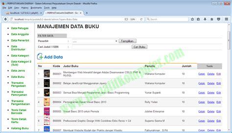 membuat sistem informasi perpustakaan berbasis web dengan php mysql bunafit komputer menjual source code program software