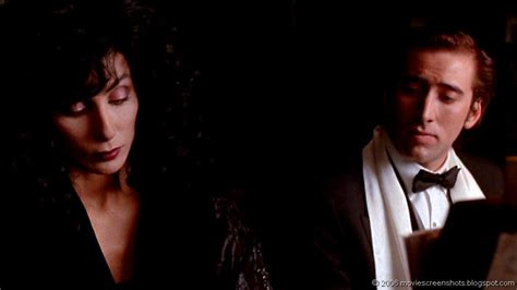 movie nicolas cage and cher vagebond s movie screenshots moonstruck 1987