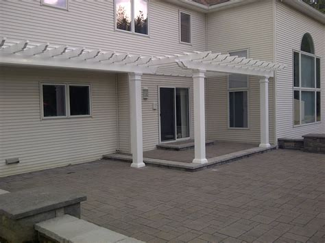 vinyl pergola installation poly enterprises