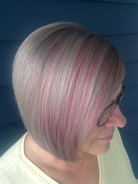 hair highlights pictures for grey hair candy pink highlights silver grey hair hair pinterest