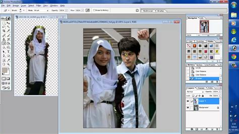 membuat watermark foto di photoshop tutorial menggabungkan 2 foto dengan photoshop 7 0 youtube