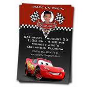 Cars Invitations Printable Custom Birthday Party By