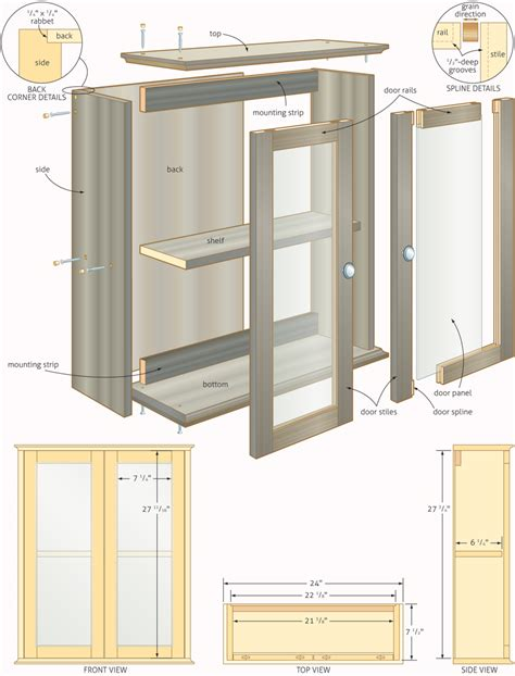 Free Woodworking Plans Bathroom Cabinets Quick Cabinet Door Plans Free