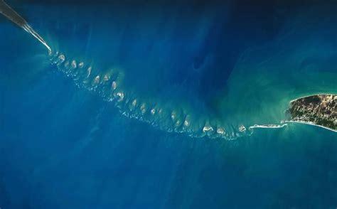 satellite image of ram setu american tv show claims to solved ram setu mystery