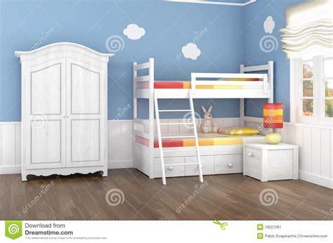 chambre a coucher des enfants la chambre 224 coucher des enfants bleus image stock image