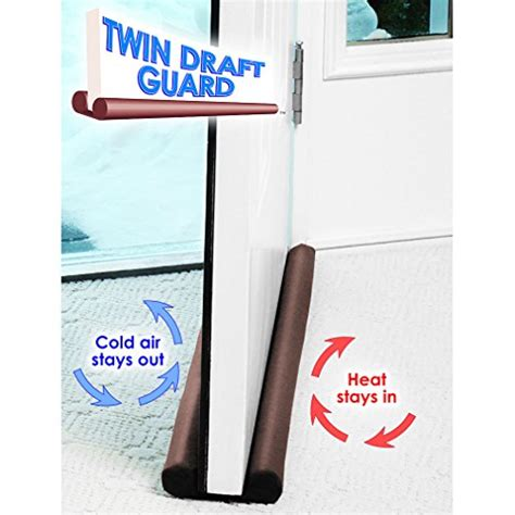 Exterior Door Draft Guard Draft Guard Door Window Energy Saving As Seen On Tv Brown