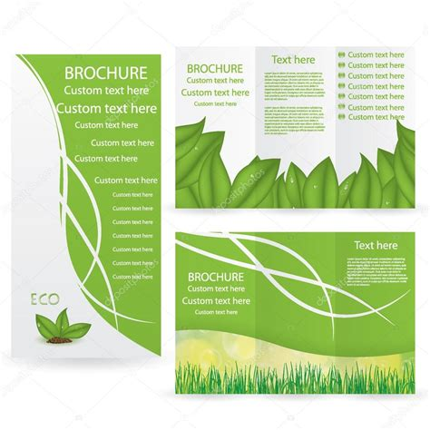 brochure layout design template vector vector brochure layout design template stock vector