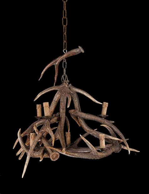 Stag Horn Chandelier Early 20th Century Stag S Horn Six Light Chandelier For Sale At 1stdibs